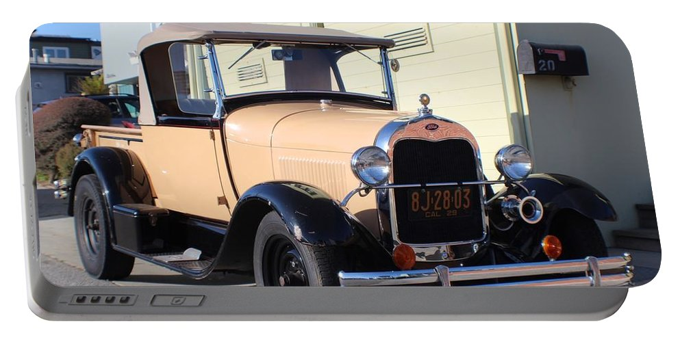 Model A Ford Truck Portable Battery Charger featuring the photograph Model A Ford Truck by Robert Phelan