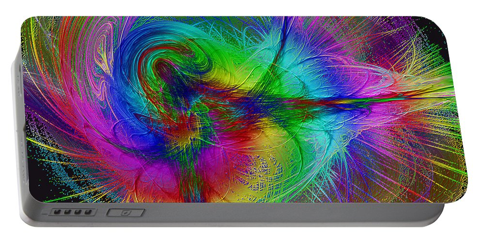 Dance Portable Battery Charger featuring the digital art Modern Dance by Diane Parnell