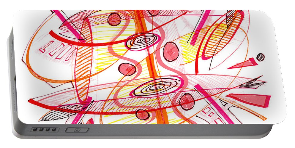Modern Drawing Portable Battery Charger featuring the drawing Modern Drawing Seventy-four by Lynne Taetzsch