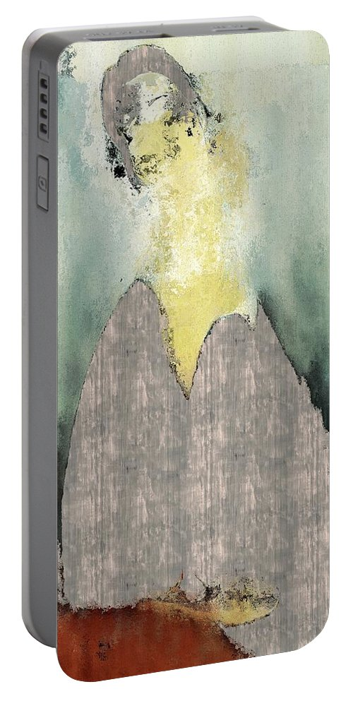 Portrait Portable Battery Charger featuring the digital art Modern From Classic Art Portrait - Mfca-spjs01ai by Variance Collections