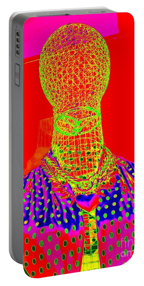 Pop Art Portable Battery Charger featuring the digital art Modern Mesh Mosaic by Ed Weidman