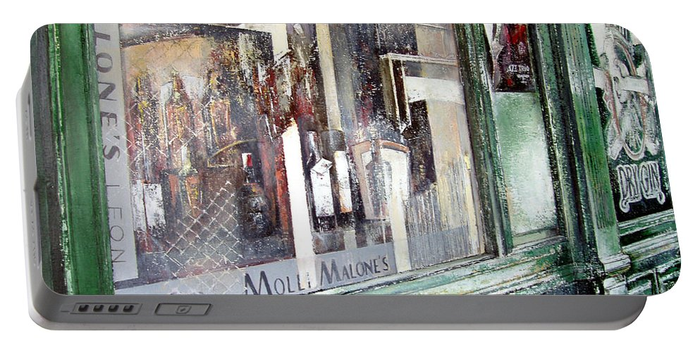 Molli Malone Portable Battery Charger featuring the painting Molli Malone by Tomas Castano