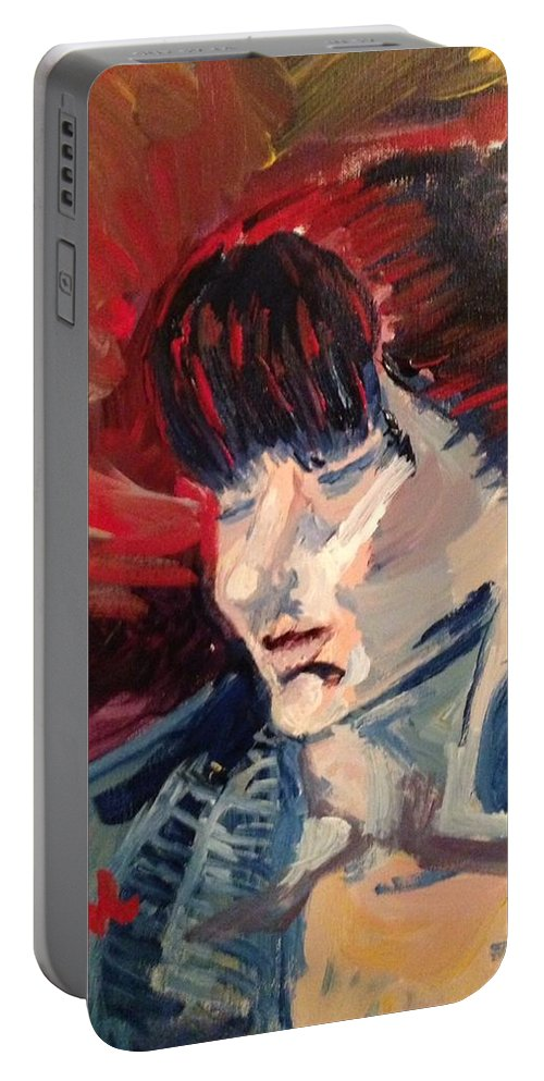 Painting From Life. Portable Battery Charger featuring the painting Mollie by Julene Franki