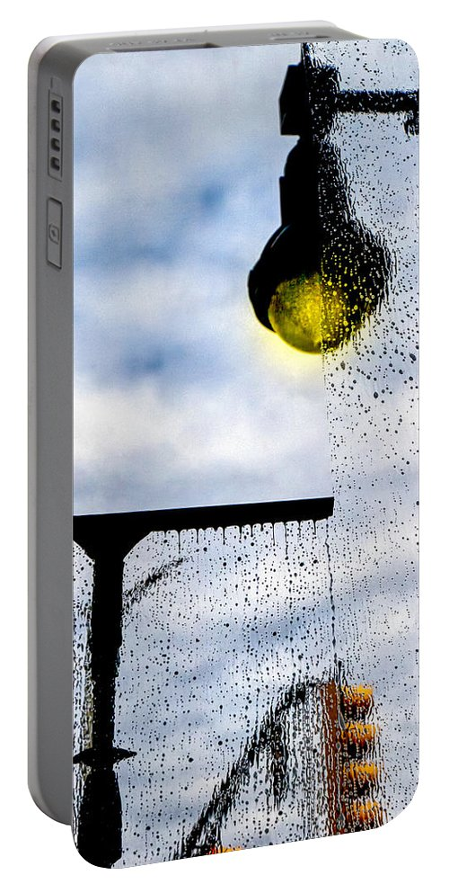 Window Portable Battery Charger featuring the photograph Molly's Window by Bob Orsillo