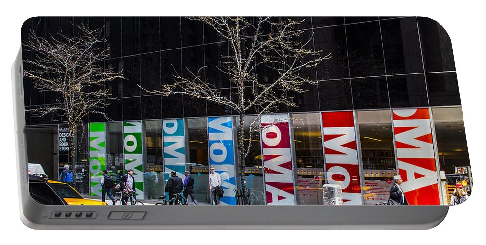 New York City Portable Battery Charger featuring the photograph Moma by Angus Hooper Iii
