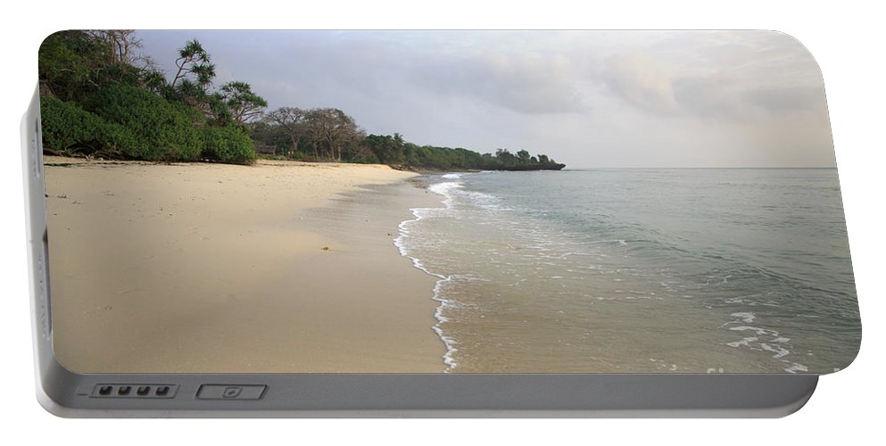 Africa Portable Battery Charger featuring the photograph Mombassa Beach by Deborah Benbrook