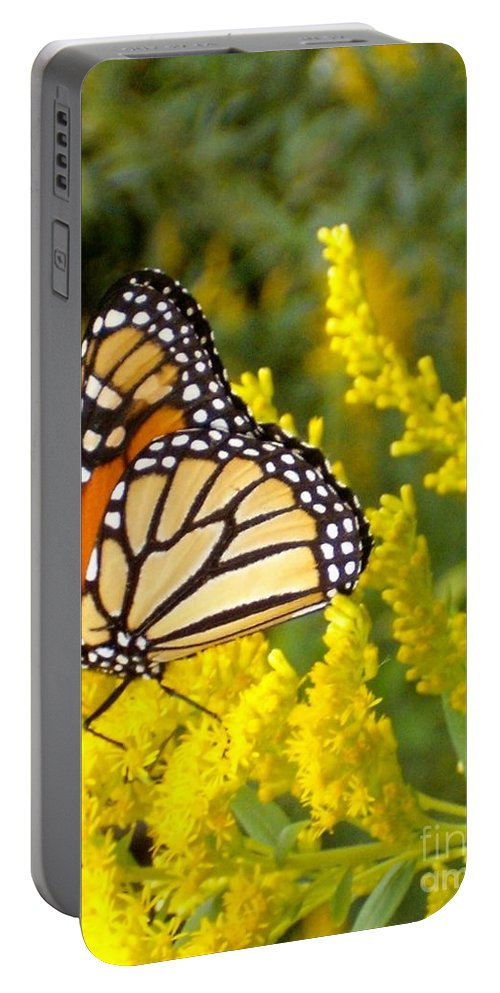 Monarch Portable Battery Charger featuring the photograph Monarch by Sara Raber