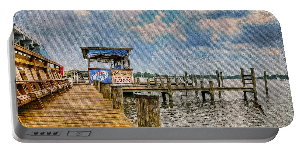Marina Portable Battery Charger featuring the photograph Monday Monday by Lois Bryan