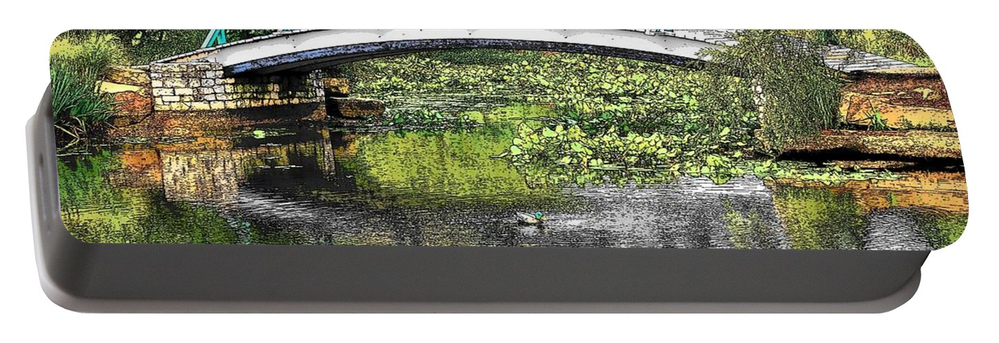 Nature Portable Battery Charger featuring the photograph Monet Bridge by John Schneider
