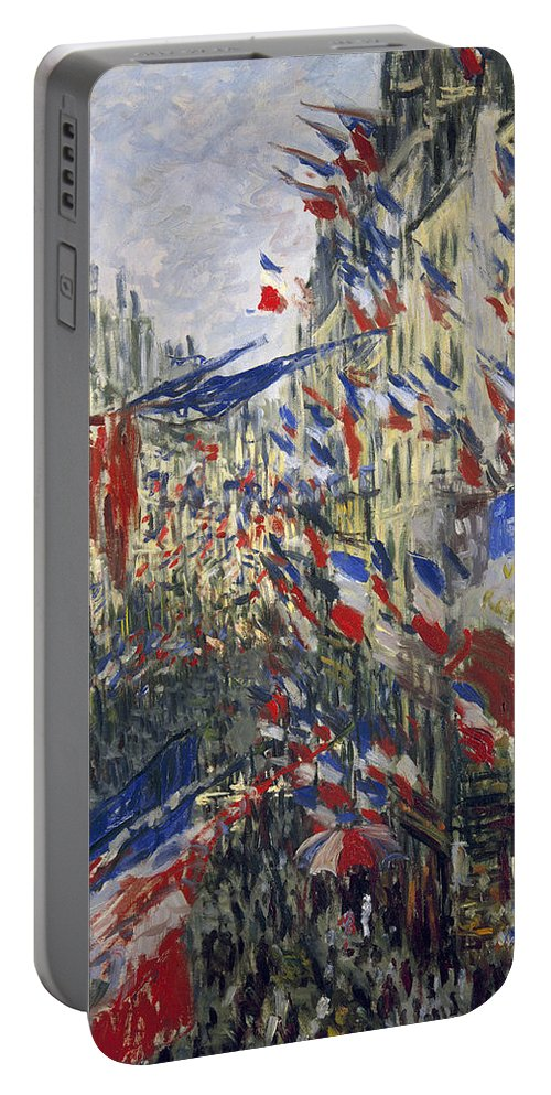 1878 Portable Battery Charger featuring the photograph Monet: Montorgeuil, 1878 by Granger