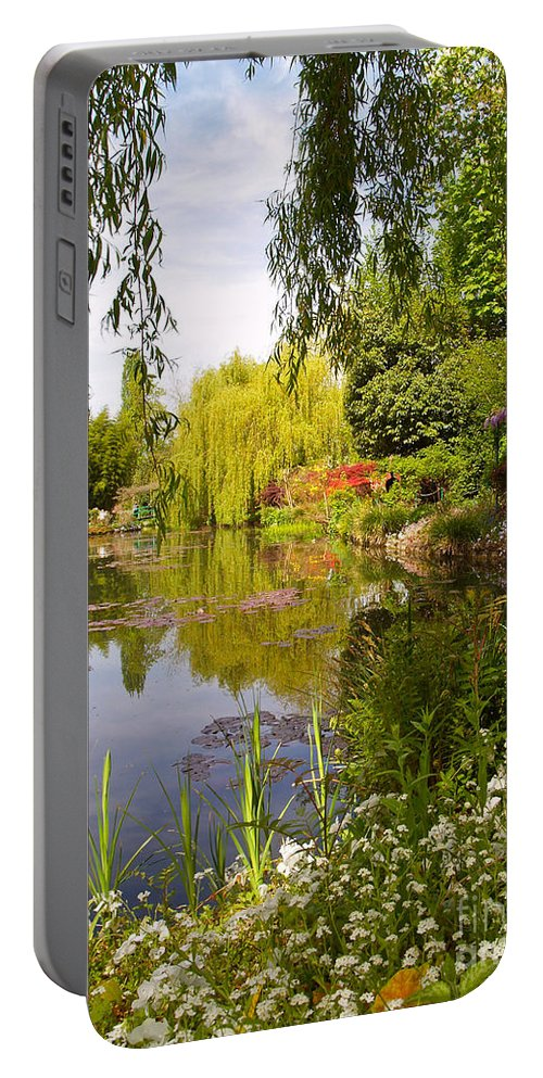 Landscape Portable Battery Charger featuring the photograph Monet's Water Garden 2 At Giverny by Alex Cassels