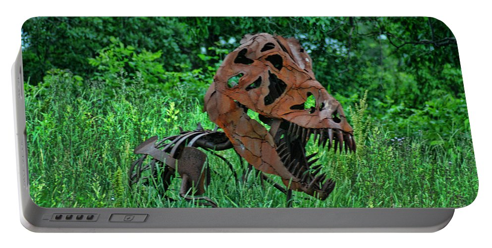 Door County Portable Battery Charger featuring the photograph Monster In The Grass by Tommy Anderson