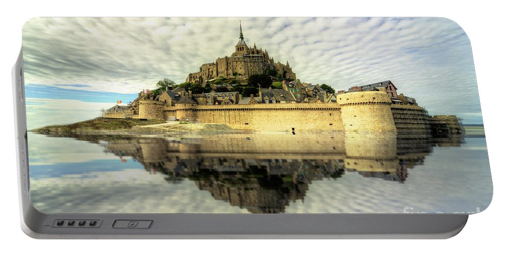 Mount Portable Battery Charger featuring the photograph Mont St Michel by Rob Hawkins