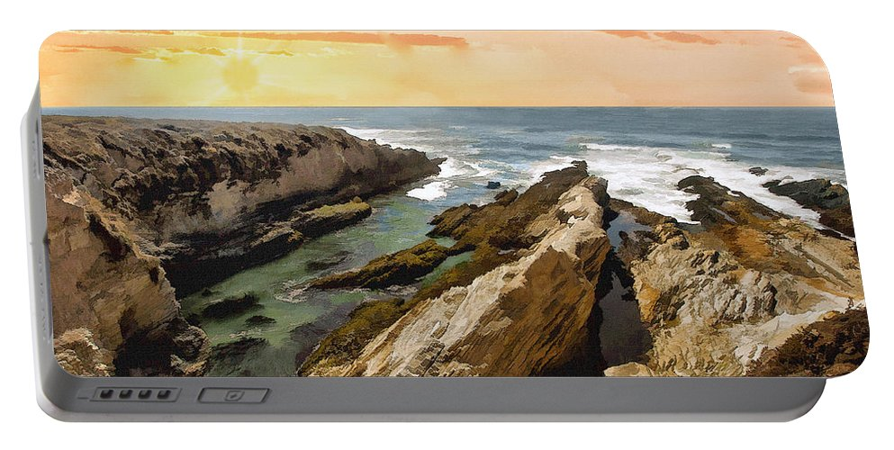 Montana De Oro Portable Battery Charger featuring the photograph Montana De Oro Shore II by Sharon Foster