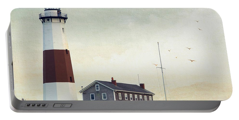 Lighthouse Portable Battery Charger featuring the photograph Montauk Dusk by Keith Armstrong
