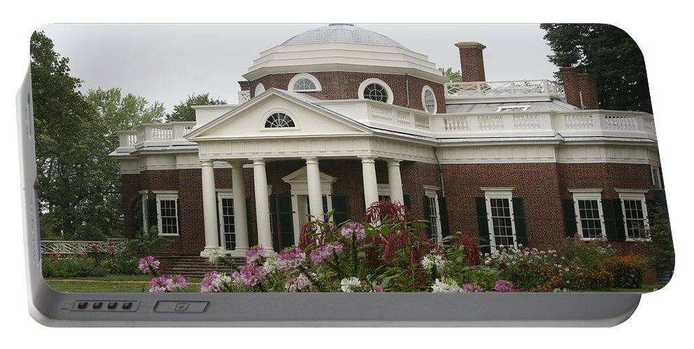 Monticello Portable Battery Charger featuring the photograph Monticello Estate by Christiane Schulze Art And Photography