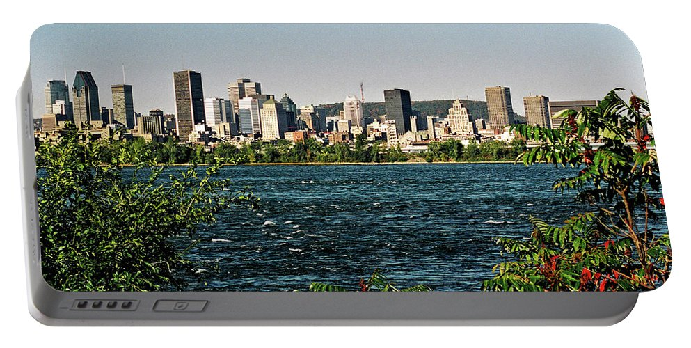 North America Portable Battery Charger featuring the photograph Montreal - Sur Le Fleuve by Juergen Weiss