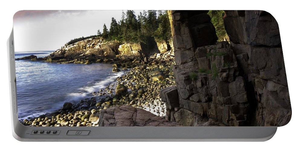 Landscape Portable Battery Charger featuring the photograph Monument Cove Sunrise 4984 by Brent L Ander