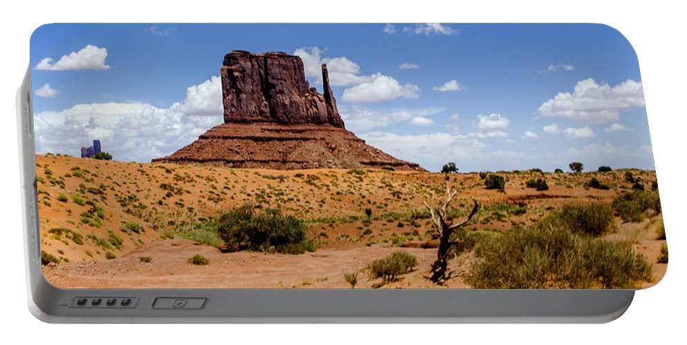 Landscape Portable Battery Charger featuring the photograph Monument Valley - Elephant Butte by Jon Berghoff