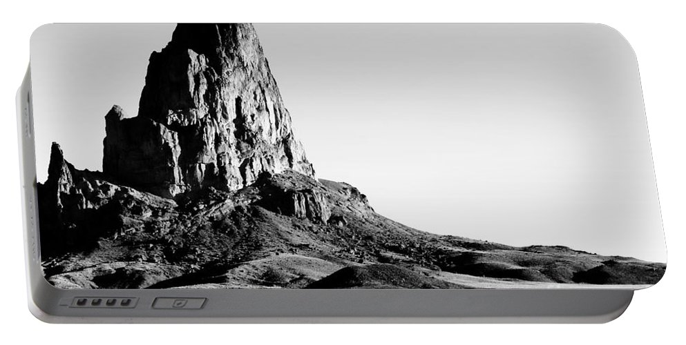 Landscape Portable Battery Charger featuring the digital art Monument Valley Promontory by Tim Richards