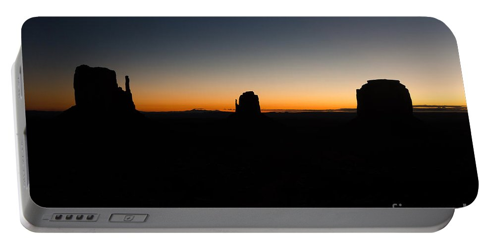 Monument Valley Portable Battery Charger featuring the photograph Monument Valley Sunrise by Jeffrey Kolker