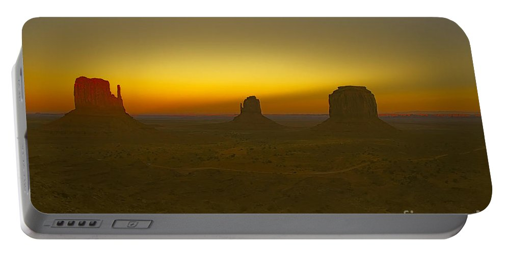 Monument Valley Portable Battery Charger featuring the photograph Monument Valley -utah V4 by Douglas Barnard