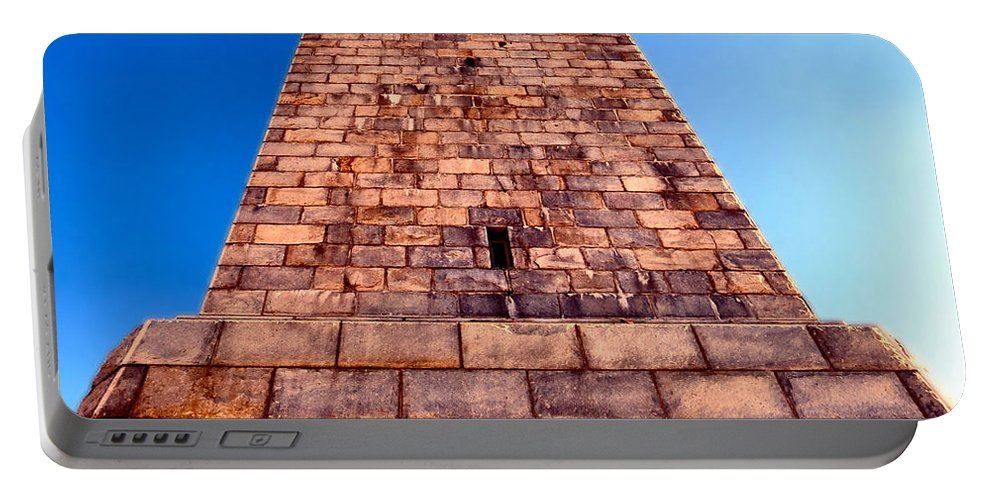 High Portable Battery Charger featuring the photograph Monumental Heights by Art Dingo
