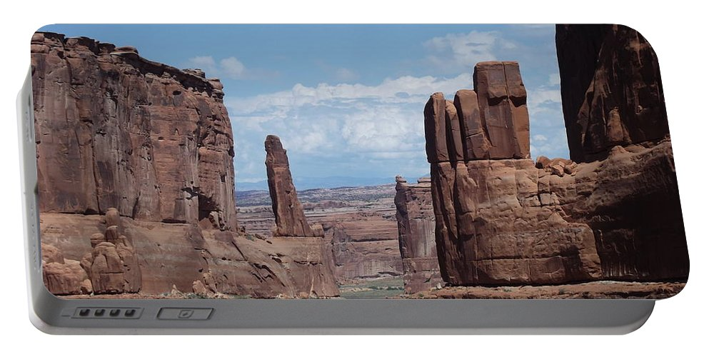 Arches National Park Portable Battery Charger featuring the photograph Monuments by Stan Scott