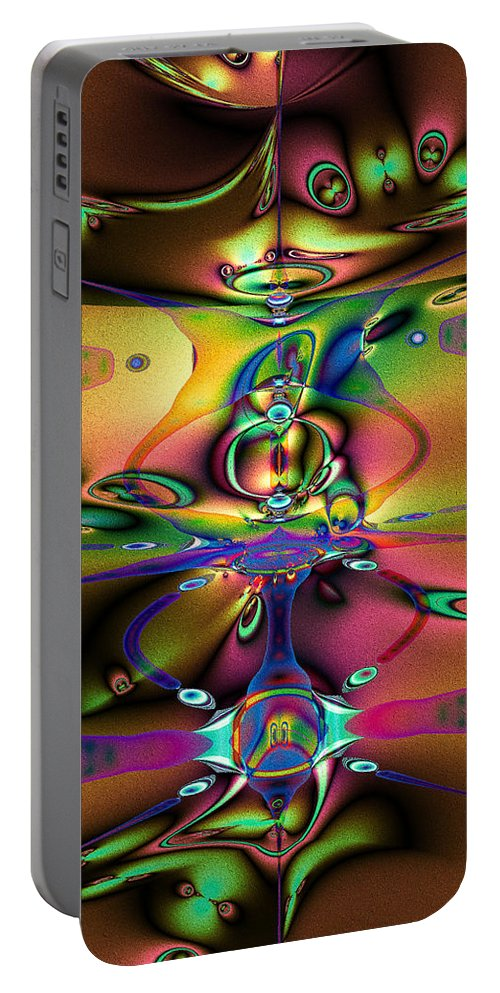 Mood Portable Battery Charger featuring the digital art Mood by Kiki Art