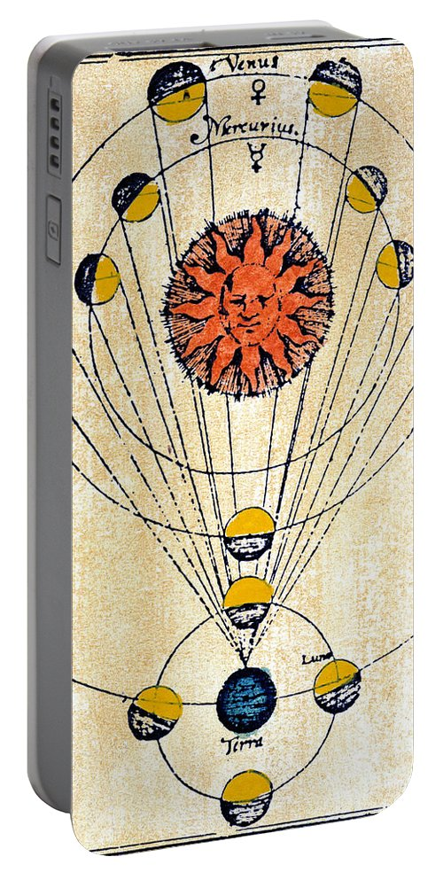 1643 Portable Battery Charger featuring the photograph Moon Phases by Granger