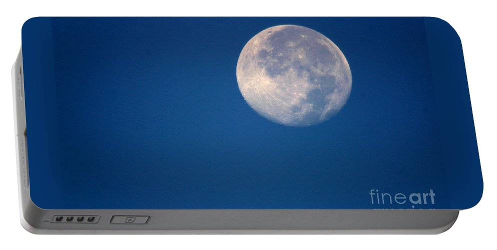 Moon Portable Battery Charger featuring the photograph Moon1928 by Gary Gingrich Galleries