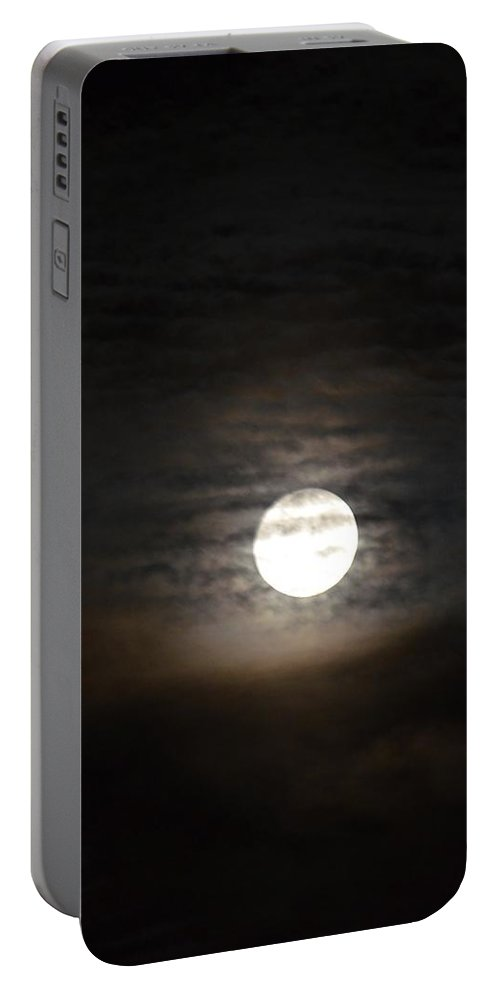 Moonlight In September Portable Battery Charger featuring the photograph Moonlight In September by Maria Urso