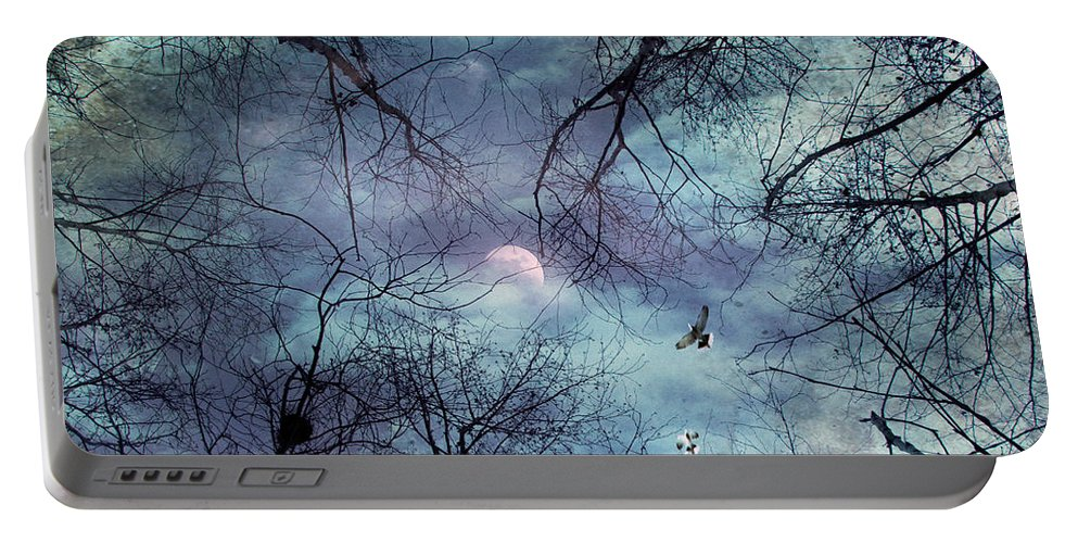 Abstract Portable Battery Charger featuring the photograph Moonlight by Stelios Kleanthous