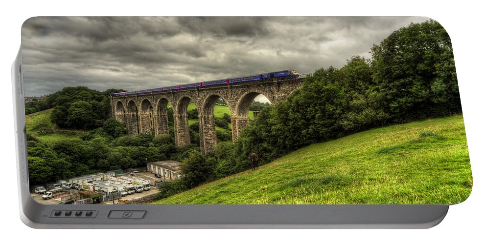 Moorswater Portable Battery Charger featuring the photograph Moorswater Viaduct by Rob Hawkins