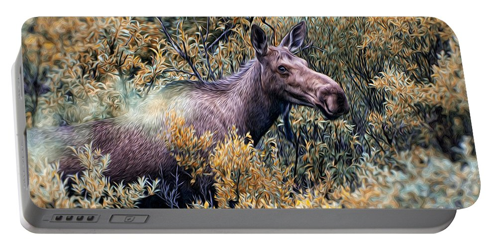 Portable Battery Charger featuring the photograph Moose by Bill Howard