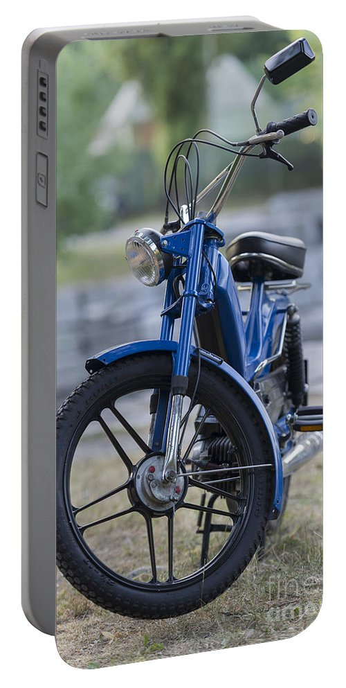 Moped Portable Battery Charger featuring the photograph Moped by Mats Silvan