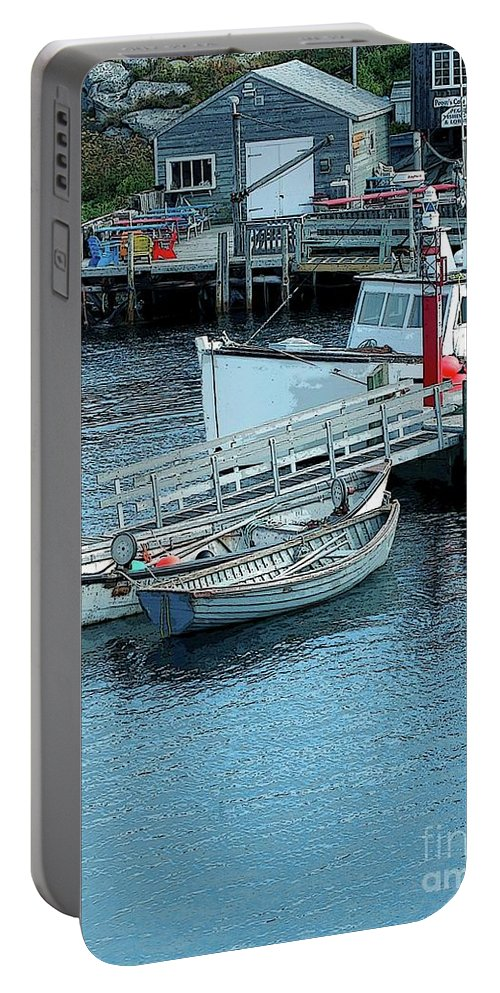 Row Portable Battery Charger featuring the photograph More Boats by Kathleen Struckle