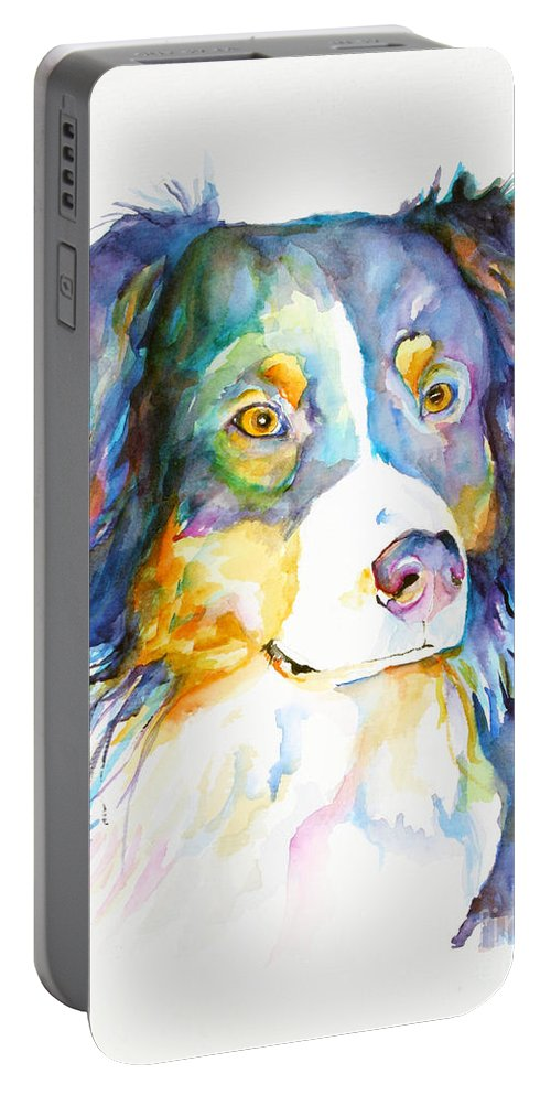 Pat Saunders-white Portable Battery Charger featuring the painting Morgan by Pat Saunders-White