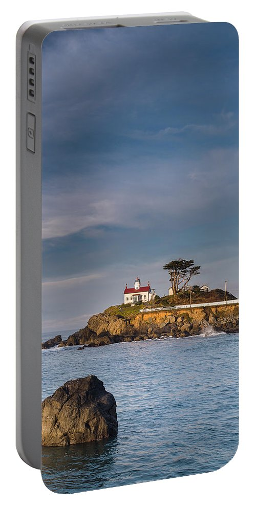 Sunrise Portable Battery Charger featuring the photograph Morning At Battery Point Lighthouse by Greg Nyquist