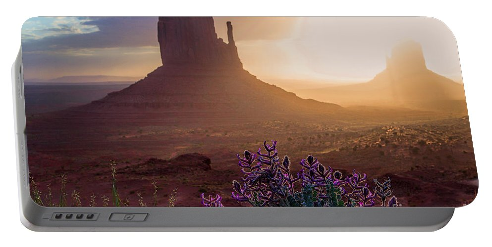 Utah Landscape Portable Battery Charger featuring the photograph Morning Bloom by Jim Garrison