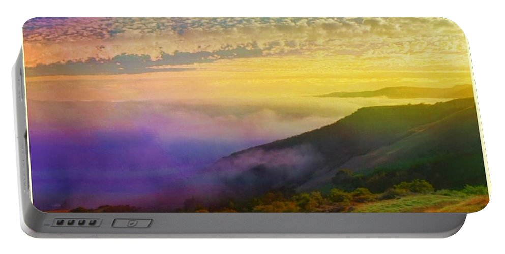 Dawn Sky Portable Battery Charger featuring the photograph Morning Has Broken by Ellen Cannon