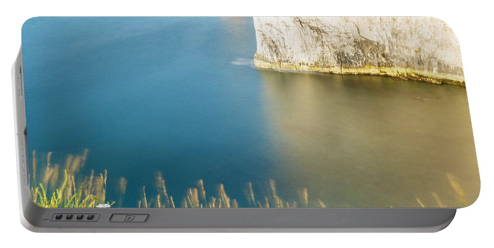 Old Harry Portable Battery Charger featuring the photograph Morning Light At Old Harry Rocks by Ian Middleton