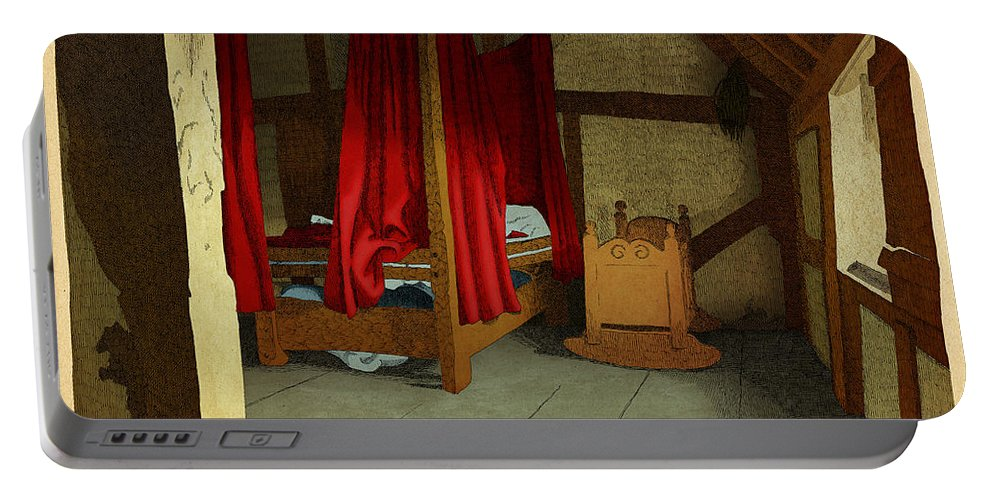 Bedroom Cradle Bed Light Curtains Portable Battery Charger featuring the drawing Morning by Meg Shearer