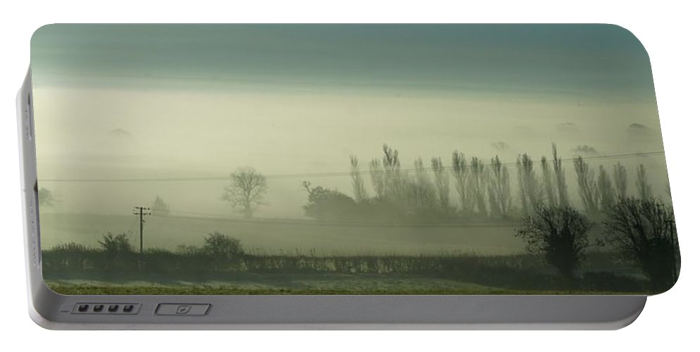 Mist Portable Battery Charger featuring the photograph Morning Mist by Ron Harpham