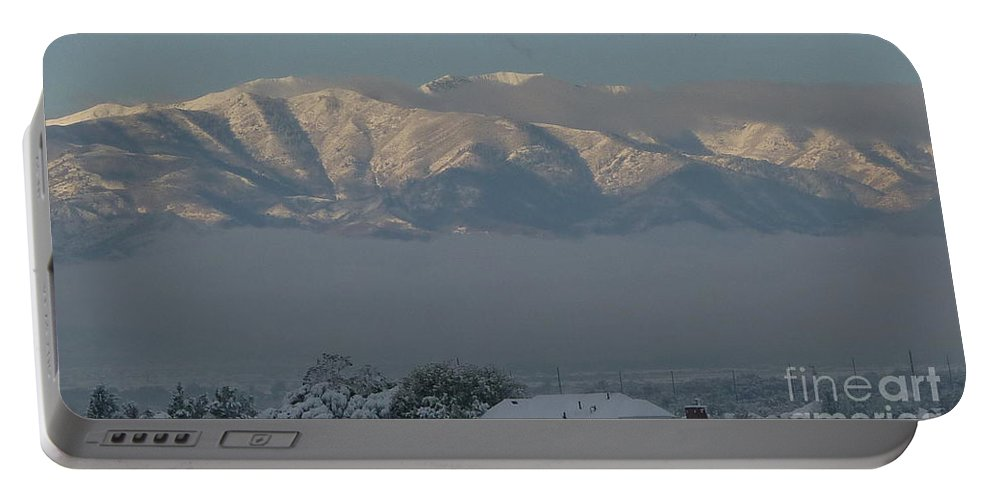Morning Sun On Utah Mountains Portable Battery Charger featuring the photograph Morning Sun On Utah Mountains by Susan Garren