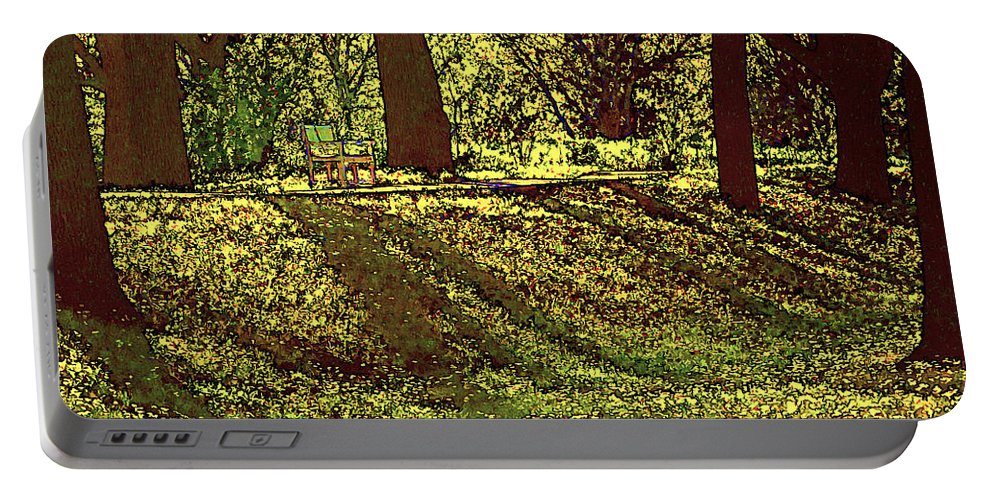 Park Portable Battery Charger featuring the photograph Morning Tranquility by Gary Holmes