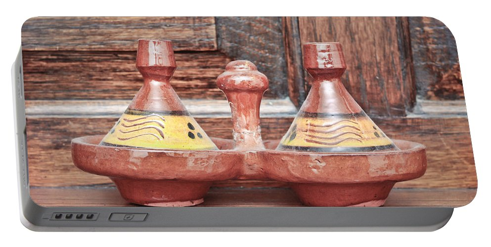 Africa Portable Battery Charger featuring the photograph Moroccan Tagine by Tom Gowanlock