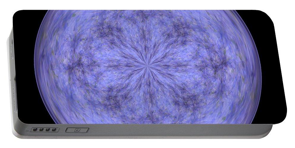 Wall Art Portable Battery Charger featuring the digital art Morphed Art Globe 30 by Rhonda Barrett