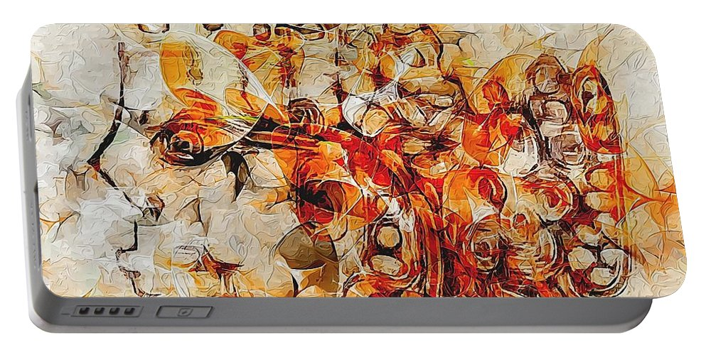 Graphics Portable Battery Charger featuring the digital art Mosaic 0259 Marucii by Marek Lutek