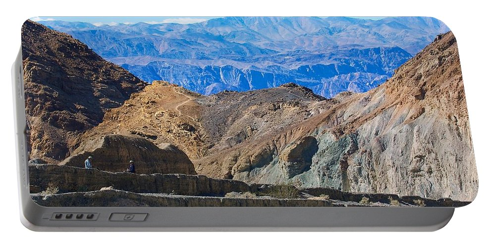 California Portable Battery Charger featuring the photograph Mosaic Canyon Picnic by Stuart Litoff